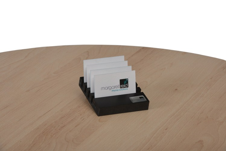 5 Slot Small Counter Top Display Stand With Cards