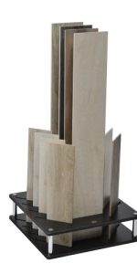 Black Cotswold 12 Slot Slotted Display Stand With Tiles