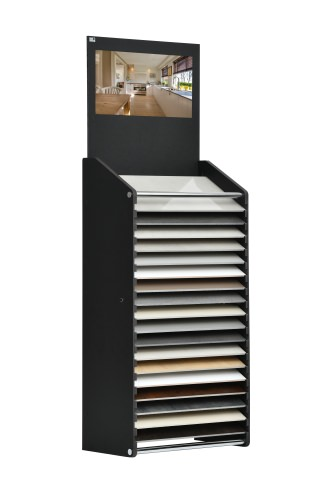 Cotswold 17 Slot Horizontal Display Stand Showing Wood