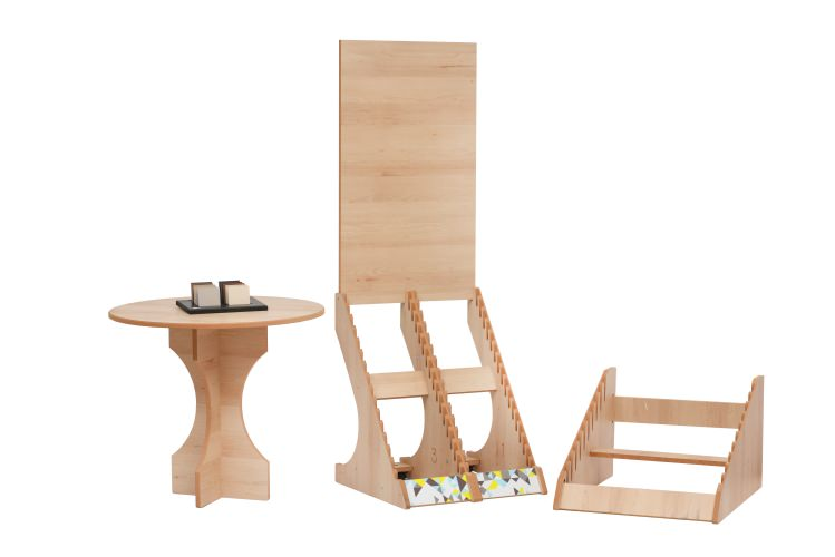 Forest Green Melamine Faced Wood-effect Display Stands