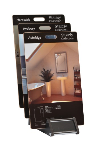 Laminated Boards With Graphics On Cotswold Tiered 6 Slot Stand