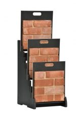 Steep Tiered 10 Slot Open Display Stand