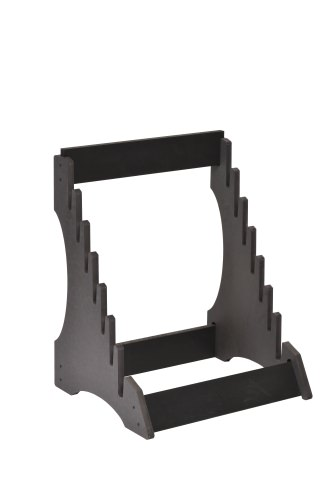 Steep Tiered 7 Slot Open Display Stand