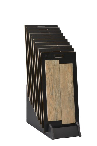 Tiered 10 Slot Narrow Open Display Stand