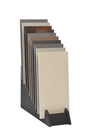 Tiered 10 Slot Narrow Open Display Stand With Tiles