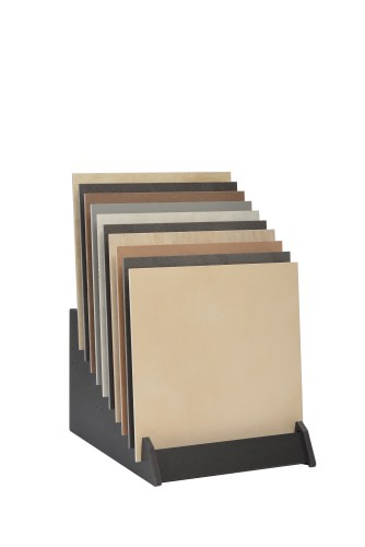 Tiered 10 Slot Wide Open Display Stand With Tiles