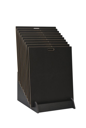 Tiered 10 Slot Wide Open Display Stand
