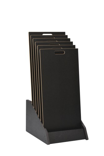 Tiered 6 Slot Closed Display Stand