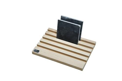 Forest Green Open 5 Slot Desktop Stand