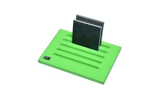 Green 5 Slot Desktop Stand