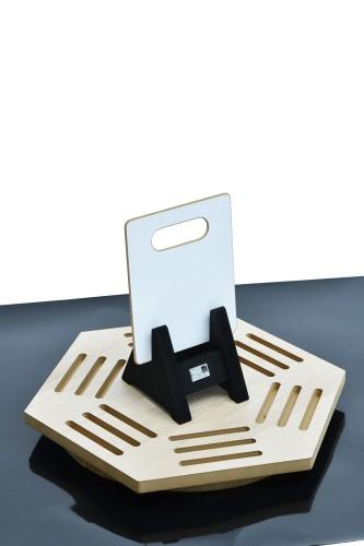 Hexagonal Desktop Stand & Mini Single-cradle